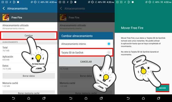 Cómo pasar o mover aplicaciones Android a la tarjeta SD 3