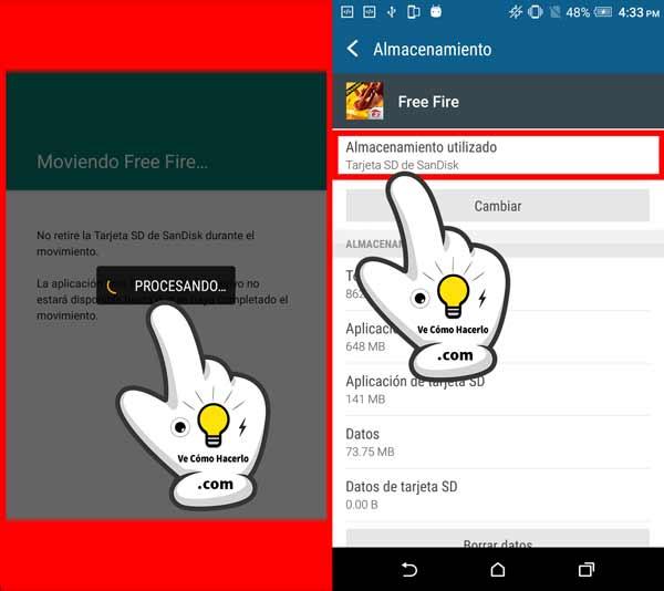 Cómo pasar o mover aplicaciones Android a la tarjeta SD 4